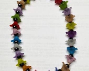 Lucites flowers bracelet