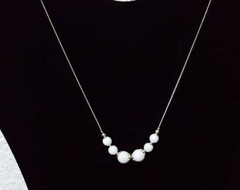 White onyx necklace