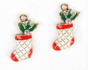 Set of 5 charms boot Christmas