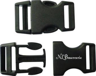 Plastic black buckle clips clasp 30 mm Lot 10
