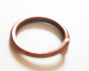 100 x copper rings 5mm - ringed copper