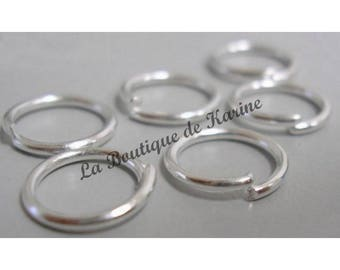150 10 mm metal jump Rings Silver clear - creating jewelry beads