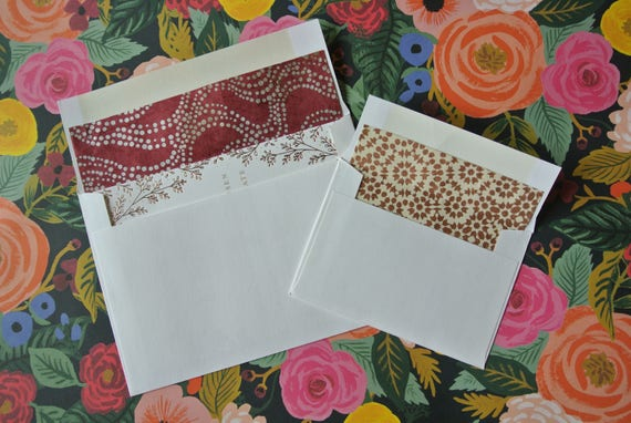 Custom Envelope Lining Decorative Envelopes Wedding