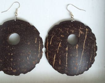 Guadeloupe coconut earrings