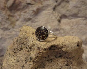 "Adjustable silver ring collection""mottled"" 1"