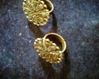 1 ring ring adjustable bronze filigree