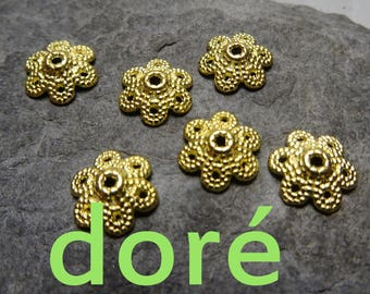 6 Golden Cup: 10mm, thickness: 3mm, hole: 1.5 mm