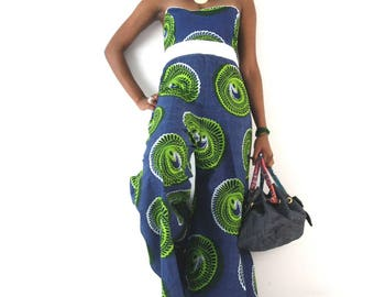 -A African wax print ethnic wide combination make custom fabric choice