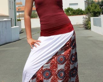 African print cotton harem pants