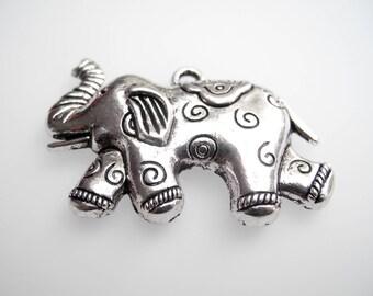 Silver tone elephant pendant