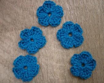 five flowers dark crochet sewing or craft