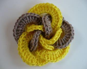 Flower crochet applique flower crochet applique