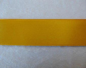 Double faced satin ribbon, gold (S-287)