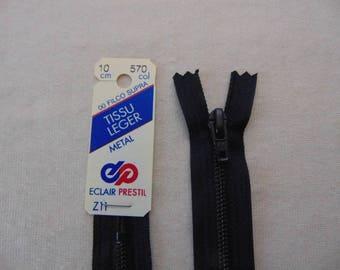 Navy zipper, metal, blue, 15 cm (Z11 570)