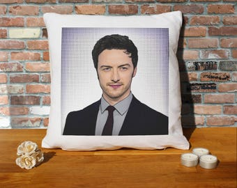James Mcavoy Pillow Cushion - 16x16in - White