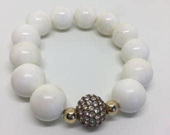 White  Sea Pearl Shell Bracelet