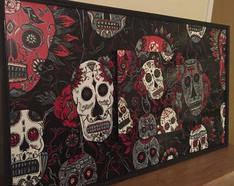 Day of the Dead  wall hanging wooden 3D frame