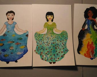 Fairy Tale Dress Painting