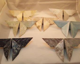 Origami Butterflies - Blue & Silver Pack