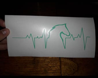 Horse Head Heart Beat Decal (contact for more colors)