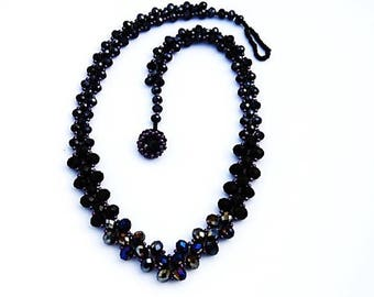 Black Glistening Night Necklace