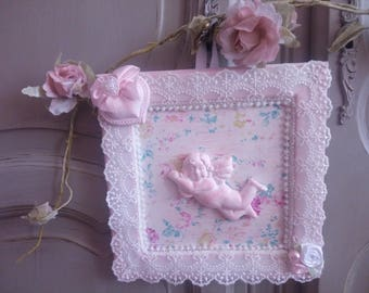 Frame shabby chic and romantic Angel