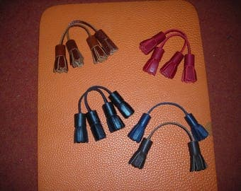 Tassel leather for shoes or other uses.