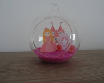 Suspension / Princess to hang or place decorative glass ball