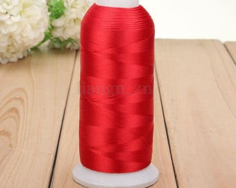 Red 1 reel 5000 m thread sewing sewing Polyester within 15 days