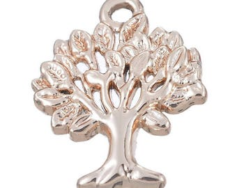 50 pendants charms tree Gold 2.1x1.7cm within 15 days