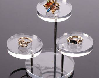 Wristwatch Necklace Earring acrylic ring display