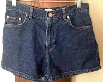 Vintage Calvin Klein High Waist Denim Shorts, Size 5