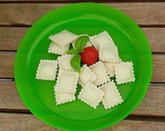 Set of 15 small ravioli felt