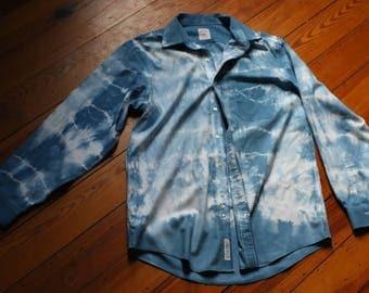 Brooks Brothers Indigo Tie Dye Button Down Shirt