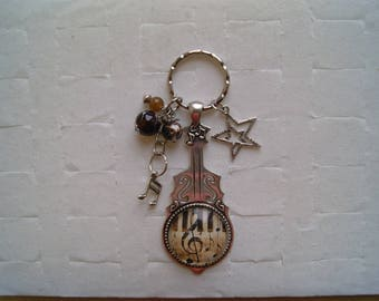 Key ring keys piano and music