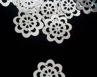 10 appliques large sequin flowers embellishments scrapbooking