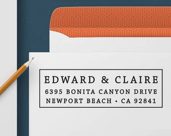 Return Address Stamp 346 - Self Inking Stamp, Custom Address Stamp, Custom Stamp, Personalized Address Stamp, Wedding and Housewarming Gift