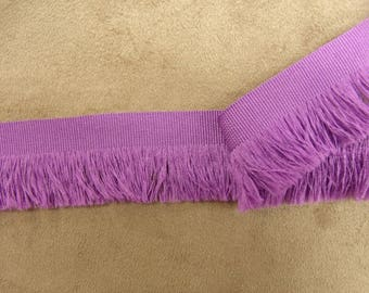 Small fringe polyester - 3.5 cm - lilac