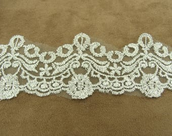 LACE in Ribbon-5 cm - silver lurex