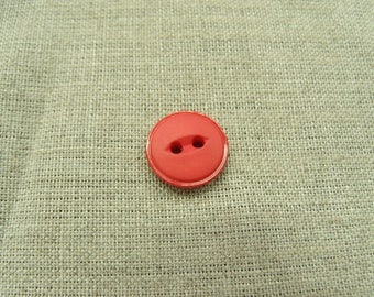 Acrylic button with 2 holes - 15 mm - Red