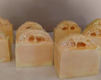 Orange and lemon loofah soap!