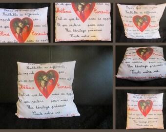 Custom cushion following your desires, ideas, your wish