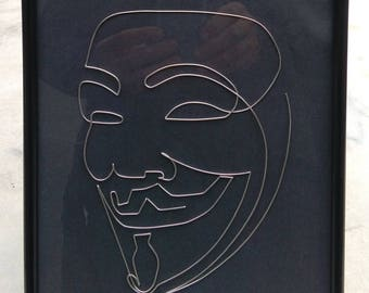 Anonymous - Wire Painting, Art Sculpture, Unique Gift