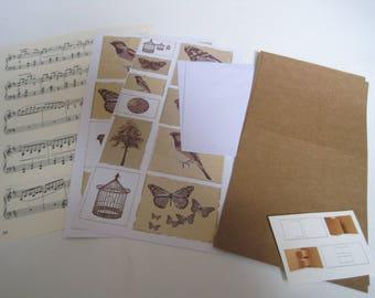 paper sheet, music note, grid bingo, old cardboard