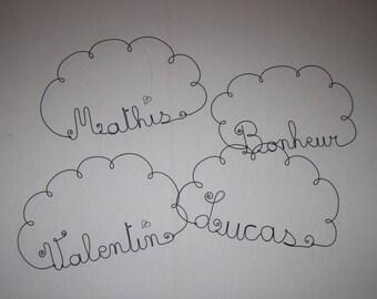 writing wire name request, Word, cloud, door plaque