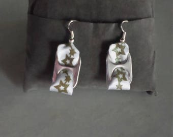 Earrings with clips and Ribbon