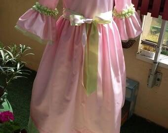 Pink marquise taffeta costume
