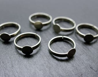 20 adjustable rings, silver