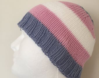 LGBTQ+ Transgender Pride Beanie Hat