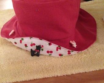 double stitched cotton velvet Hat